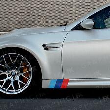 X2 BMW M Sport Premium Lato Strisce Gonna Premium Vinile Decalcomanie M Performance