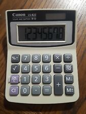 Canon LS82Z Mini Desk Calculator 8-Digit LCD solar power and battery (aa)