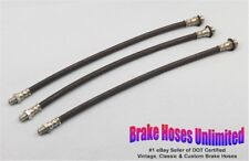 """BRAKE HOSE SET Packard Six """"110"""", 1937 1938 1939 1940 1941 1942"""