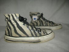 CONVERSE Vintage All Star Men Sz 3.5  Zebra Striped Sneakers Made in USA Shoes
