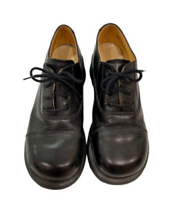 Dr Doc Martens Made In England Oxford Platform Shoes UK 5 US 7 Black 4 Eye EUC