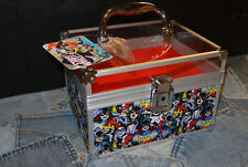 Gotham Girls Soho Train Case Lock & Key Cosmetics Makeup Storage Trunk Walgreens