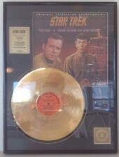 """Star Trek® Gold Plated Record (#258 of 5000 ltd edition) Soundtrack """"THE CAGE"""""""