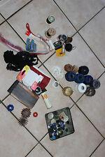 Lote de mercería antigua - Botones cintas aiguilles hijo