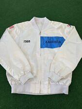 Vintage Seoul Olympics USA 1988 White And Blue Satin Bomber Jacket-Awesome!
