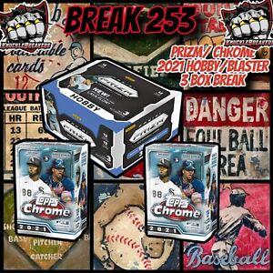CHICAGO WHITE SOX PRIZM HOBBY/ (2) TOPPS CHROME BLASTER (3) BOX BREAK 253