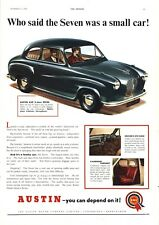 AUSTiN A30 2-DOOR SEVEN- VINTAGE BRITISH AUTOMOBILE / CAR ADVERTISEMENT - 1954