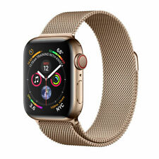 New Apple Watch Series 4 44 mm GOLD Stainless Steel Milanese Loop GPS +Cellular