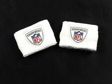 NEW NFL  - White Cotton 2-Pack Wrist Band (OSFA)
