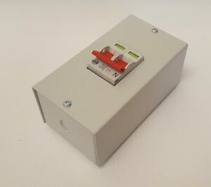 WYLEX 100A DP MAIN SWITCH 2 POLE ISOLATOR - COMES WITH METAL ENCLOSURE (MS)