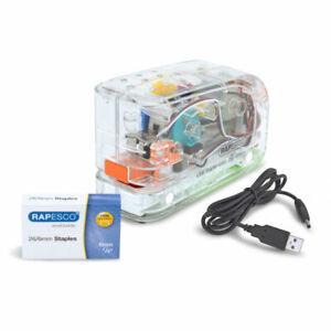Rapesco 626EL Automatic USB Electric Stapler (Clear)