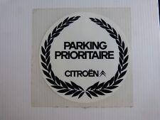 autocollant automobile : CITROEN parking prioritaire