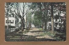 Somersworth,NH New Hampshire, dirt Mount Vernon Street used 1915 hand colored