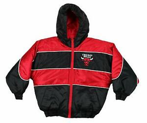 Chicago Bulls NBA Youth Boys Sideline Jr. Hooded Reversible Coat Jacket