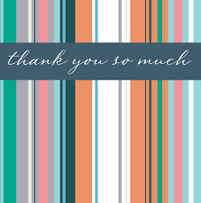Pack of 5 Blank Thank You Greeting Cards Blank Inside Greetings Card Packs