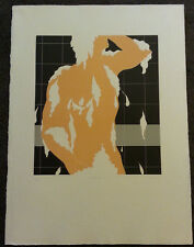 Shower I by Thom De Jong (70s 80s Dutch NYC Artist) Bathing Man