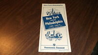AUGUST 1952 PRR PENNSYLVANIA RAILROAD FORM 5 NEW YORK TO PHILADELPHIA