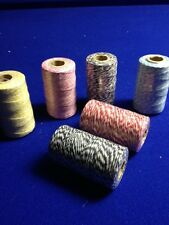 600Mtrs  Bulk LOT Mixed Bakers Twine String Rolls 2mm X 6  Favours  DIY Craft