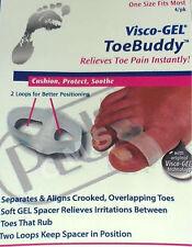 PediFix Visco-Gel ToeBuddy Toe Pain Spacer Aligner GelSmart -4- Buddy Separator