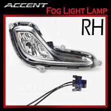 New OEM Fog Light Lamp + Connectors RH for 2012-2013 Hyundai ACCENT 4door