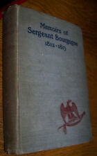 1899 MEMOIRS SERGEANT BOURGOGNE NAPOLEANIC WARS BOOK