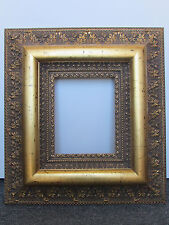 RARE 8x10 -6 1/2 INCHES ANTIQUE GOLD LEAF WOODEN ORNATE PICTURE FRAME HIGH END