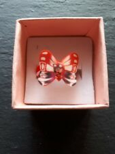 Brand new childs red butterfly ring! UK size K.5! Kids childrens gift!