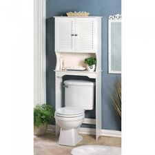 Bathroom Storage Over The Toilet  White Cabinet Organizer Shelf - New