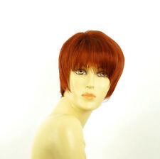 short wig for women smooth copper intense ref: louise 350 PERUK