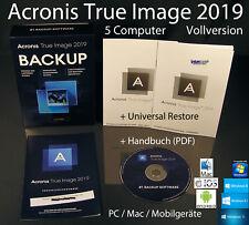 Acronis True Image 2019 Vollversion 5 PC/Mac Box, CD + Universal Restore OVP NEU