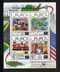 Jamaica Scott #628a MNH S/S AMERIPEX '86 Stamp EXPO CV$9+