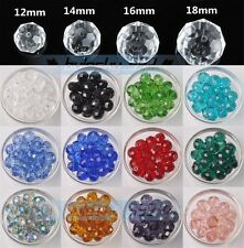 12/14/16/18mm Wholesale Big Crystal Glass Rondelle Faceted Loose Spacer Beads
