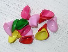 50 bunte Acryl Perlen Blütenkelche ca 25x20x15 mm Engel basteln A1103