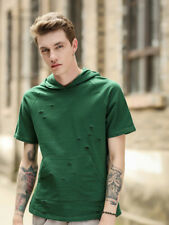 Easy Matching Holes Pocket Design Tee - Green
