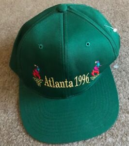 Vintage Atlanta 1996 Olympics Cap The Game Rare Green SnapBack One Size Vtg