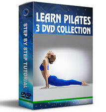 PILATES COLLECTION 3 DVDS BEGINNER INTERMEDIATE ADVANCED FITNESS WORKOUT UK