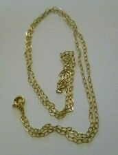 Ladies girl 9ct gold yellow GOLD fine trace CHAIN NECKLACE no scrap 1MM 16 0.36g