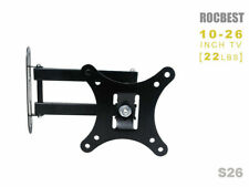 "Full Motion TV Wall Mount Bracket Swivel For 12""16""18""20""22""24""26"" inch LED LCD"