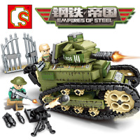 Sembo 101269 Militär Soldaten WW 1 Panzer FT-17 Krieg Bausteine Blocks 368PCS