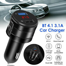 Bluetooth 4.1 FM Transmitter 3.1A Car Charger MP3 Audio AUX Dual USB Adapter