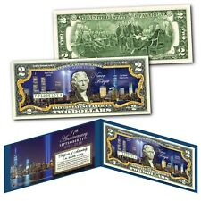 WORLD TRADE CENTER Nighttime FREEDOM TOWER 9/11 WTC 17th ANNIVERSARY US $2 Bill