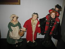 Set of 3 Department 56 Christmas Carol Scrooge Mr&Mrs Cratchit Doll Heritage GUC