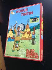 Boite de 2 puzzles Tintin Hemma 1985 TBE complets