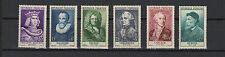 FRANCE 1955 célébrités du XIIe au XXe siècles complète de 6 timbres neufs/T1861