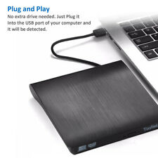 Slim External Usb 3.0 Dvd Rw Combo Cd/Dvd Drive Reader Player For Laptop Pc Mac