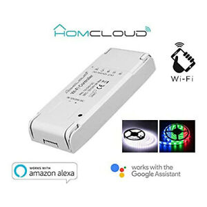 Homcloud Controller Stripes LED wi-Fi 12-24V RGB+White Alexa Google Assistant