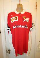 PUMA Scuderia Ferrari F1 Team Driver Polo Shirt Men's XXL Santander Schumacher