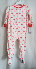 GIRLS 18 MONTH WHITE COLORFUL HEARTS SUPER COZY FLEECE SLEEPER NWT ~ CARTER'S'