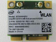 Dell Intel 6200 Draft N Wireless WiFi 802.11 a/b/g/n Mini-PCI-e WiFi Card 2GGYM
