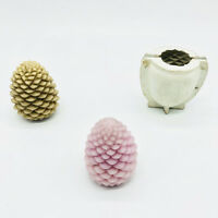 Pine Cone Shaped Rubber Candle Making Molds for Candles Making Soap Crafts